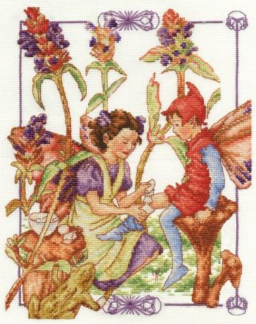 DMC Cross Stitch Kit - Flower Fairies - The Self Heal Fairy