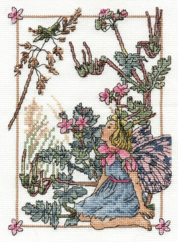 DMC Cross Stitch Kit - Flower Fairies - The Storks Bill Fairy