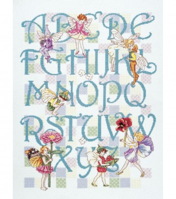DMC Cross Stitch Kit - Flower Fairies - Flowers Fairies ABC Sampler