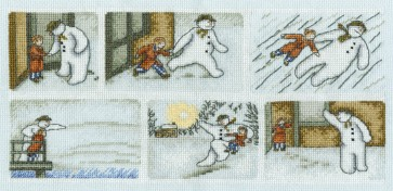 DMC Cross Stitch Kit - Christmas - The Snowman Comic Strip