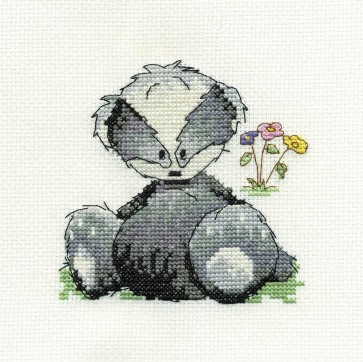DMC Cross Stitch Kit - Woodland Folk - Bert Badger