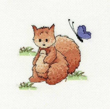 DMC Cross Stitch Kit - Woodland Folk - Sally Squirrel