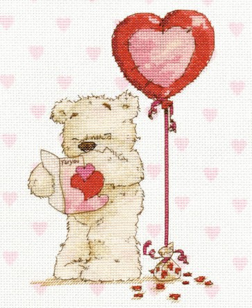 DMC Cross Stitch Kit - Lickle Ted - With Lickle Love