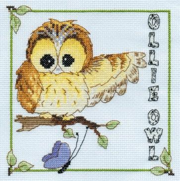 DMC Cross Stitch Kit - Woodland Folk - Ollie Owl