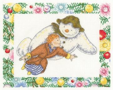 DMC Cross Stitch Kit - Christmas - The Snowman Flying