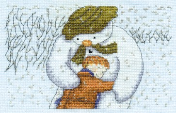 DMC Cross Stitch Kit - Christmas - James and the Snowman Hug