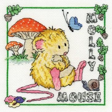 DMC Cross Stitch Kit - Woodland Folk - Molly Mouse