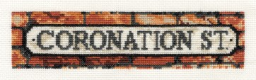 DMC Cross Stitch Kit - Coronation Street - Coronation Street Bookmark