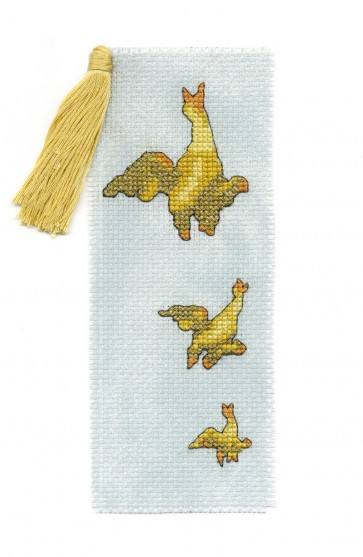 DMC Cross Stitch Kit - Coronation Street - Hilda's Flying Ducks Bookmark