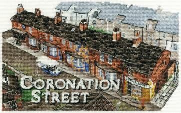 DMC Cross Stitch Kit - Coronation Street - Street Scene