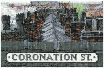 DMC Cross Stitch Kit - Coronation Street - Roof Tops