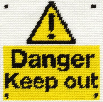 DMC Childrens Tapestry Kit - Keep Out - C051K
