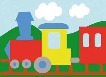 DMC Childrens Tapestry Kit - Train - C09N177K