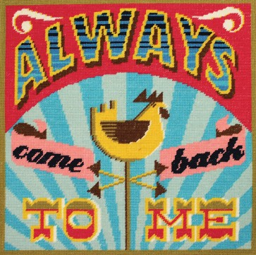 DMC Tapestry Cushion Kit - Homespun - Always Come Back To Me