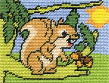 DMC Childrens Tapestry Kit - Suzie The Squirrel - C8440K