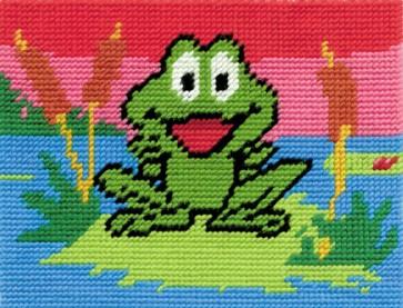 DMC Childrens Tapestry Kit - Fuzzy The Frog - C8480K