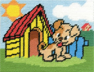DMC Childrens Tapestry Kit - Charlie The Puppy - C8500K