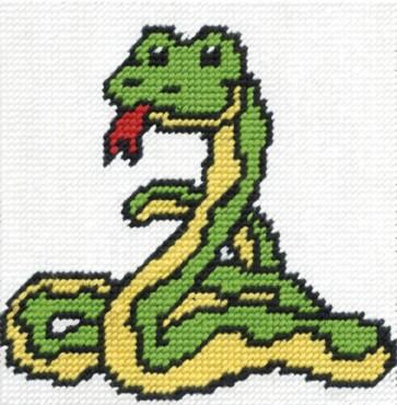 DMC Tapestry Kit - Groovy Snake - CK039