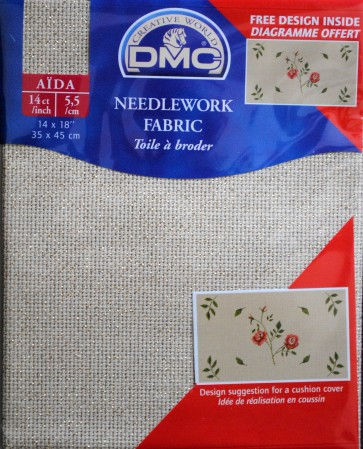 DMC 14 Count Aida Fabric 14x18 Inches (35x45cm) - DC27 5282
