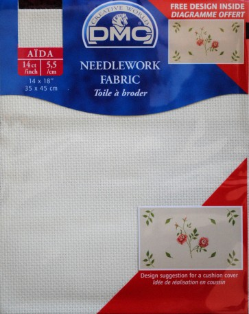 DMC 14 Count Aida Fabric 14x18 Inches (35x45cm) - DC27/10 746