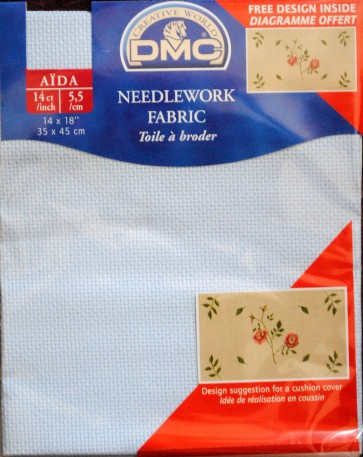 DMC 14 Count Aida Fabric 14x18 Inches (35x45cm) - DC27/800