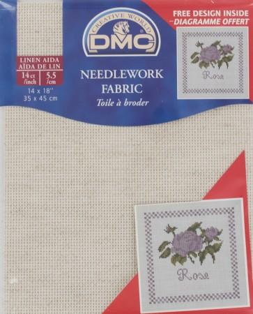 DMC 14 Count Linen Fabric 14x18 Inches (35x45cm) - DC27L ECRU