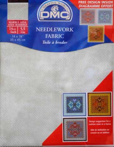 DMC 14 Count Marble Aida Fabric 14x18 Inches (35x45cm) - 3024 - DC27M