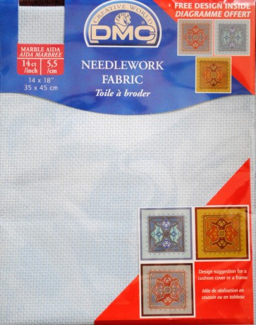 DMC 14 Count Marble Aida Fabric 14x18 Inches (35x45cm) - 3325 - DC27M