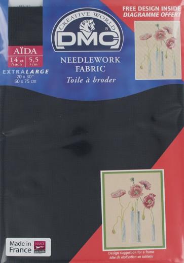 14 Count Black Aida Fabric 20x30 Inches (50x75cm) - 310 - DC28/10
