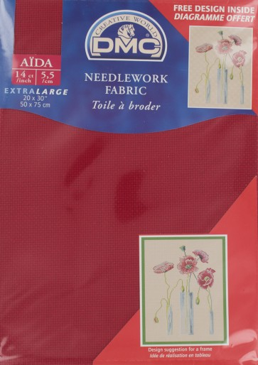 14 Count Red Aida Fabric 20x30 Inches (50x75cm) - 321 - DC28/10