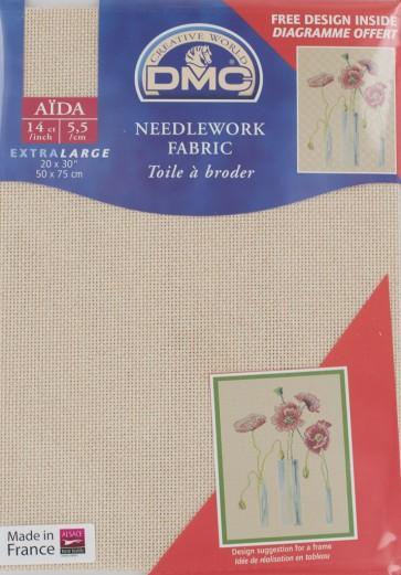 DMC 14 Count Aida Fabric 20x30 Inches (50x75cm) - DC28 5282