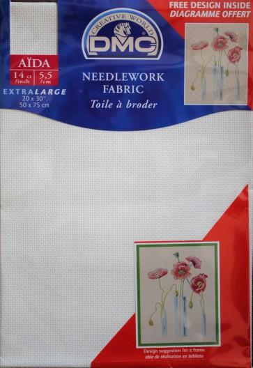 DMC 14 Count Aida Fabric 20x30 Inches (50x75cm) - DC28 712