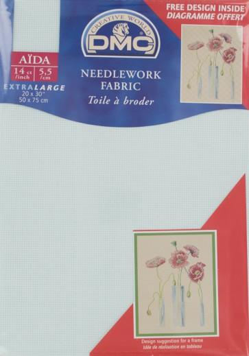 DMC 14 Count Aida Fabric 20x30 Inches (50x75cm) - DC28/964