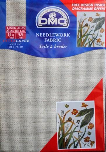 DMC 14 Count Linen Fabric 20x30 Inches (50x75cm) - DC28L ECRU