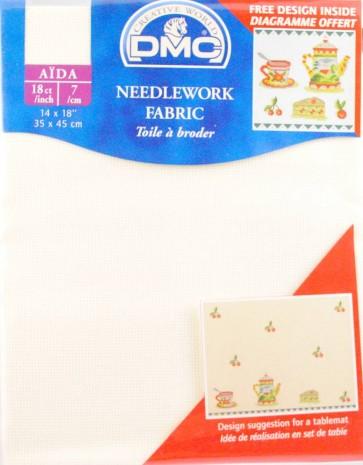 18 Count Aida Fabric 14x18 Inches (35x45cm) - Ecru - DC37/10