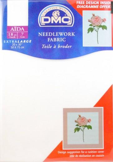 18 Count Aida Fabric 20x30 Inches (50x75cm) - Blanc - DC38/10