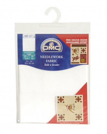 DMC 25 Count Evenweave Fabric 14x18 Inches (35x45cm) - Blanc - DC57/10
