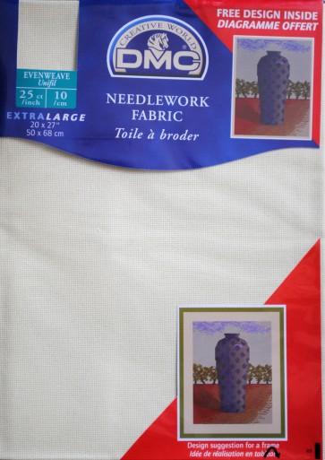 DMC 25 Count Evenweave Fabric 20x27 Inches (50x68cm) - Ecru - DC58/10