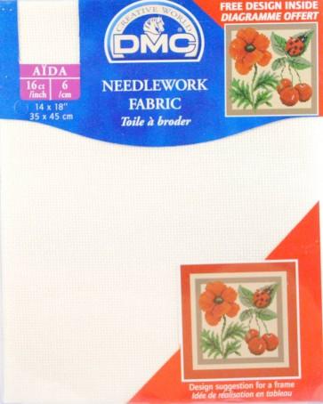 16 Count Aida Fabric 14x18 Inches (35x45cm) - Ecru - DC87/10