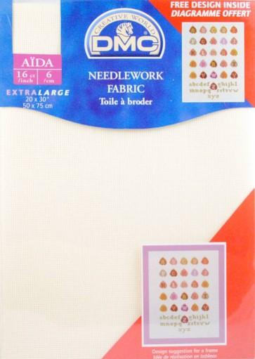 16 Count Aida Fabric 20x30 Inches (50x75cm) - Ecru - DC88/10