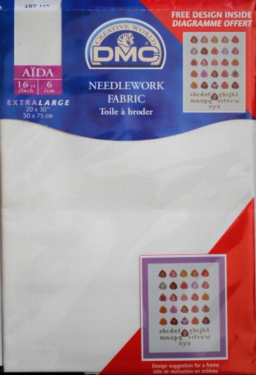 DMC 16 Count Aida Fabric 20x30 Inches (50x75cm) - DC88 712
