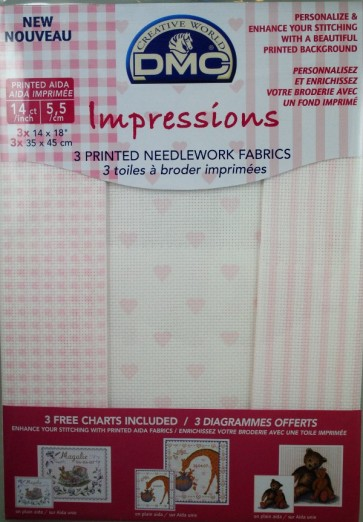 14 Count Aida Impressions Fabric 14x18 Inches (35x45cm) - Pink