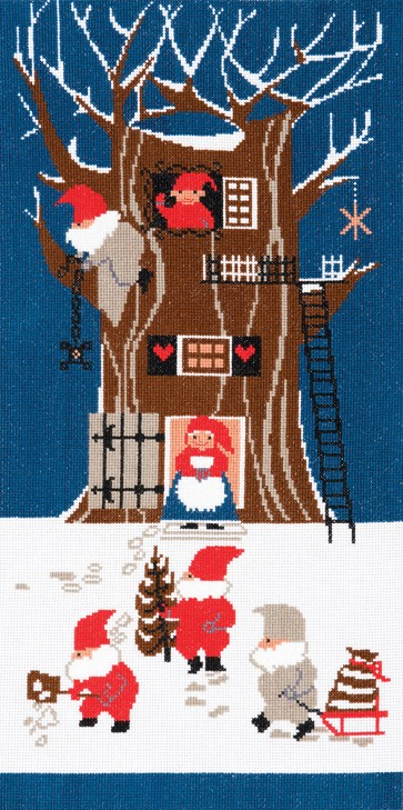 DMC Counted Cross Stitch Kit - Tomte - Tomte Tree House