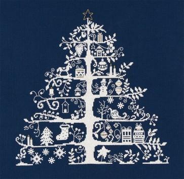 DMC Counted Cross Stitch Kit - Christmas Trees - Christmas Tree Blue