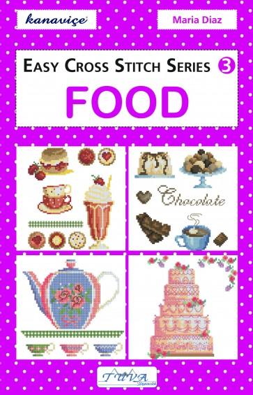 Easy Cross Stitch Series Design Book - Food