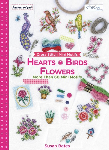 Cross Stitch Design Book - Hearts Birds And Flowers