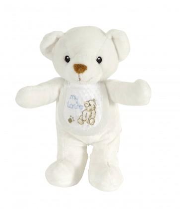White Teddy Bear Soft Plush Toy - Stitch-a-Teddy - GN110
