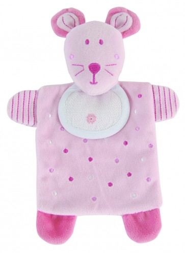 DMC Cross Stitch Soft Toy - Stitch-a-Teddy - Pink Mouse Soft Toy