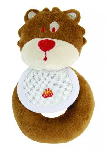 DMC Cross Stitch Soft Toy - Stitch-a-Teddy - Bear Cub Rattle Soft Toy