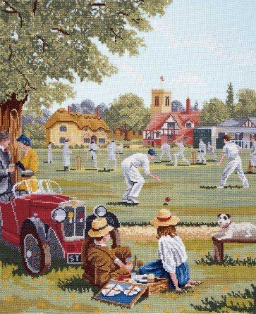 DMC Cross Stitch Kit - Nostalgia - Cricket Match